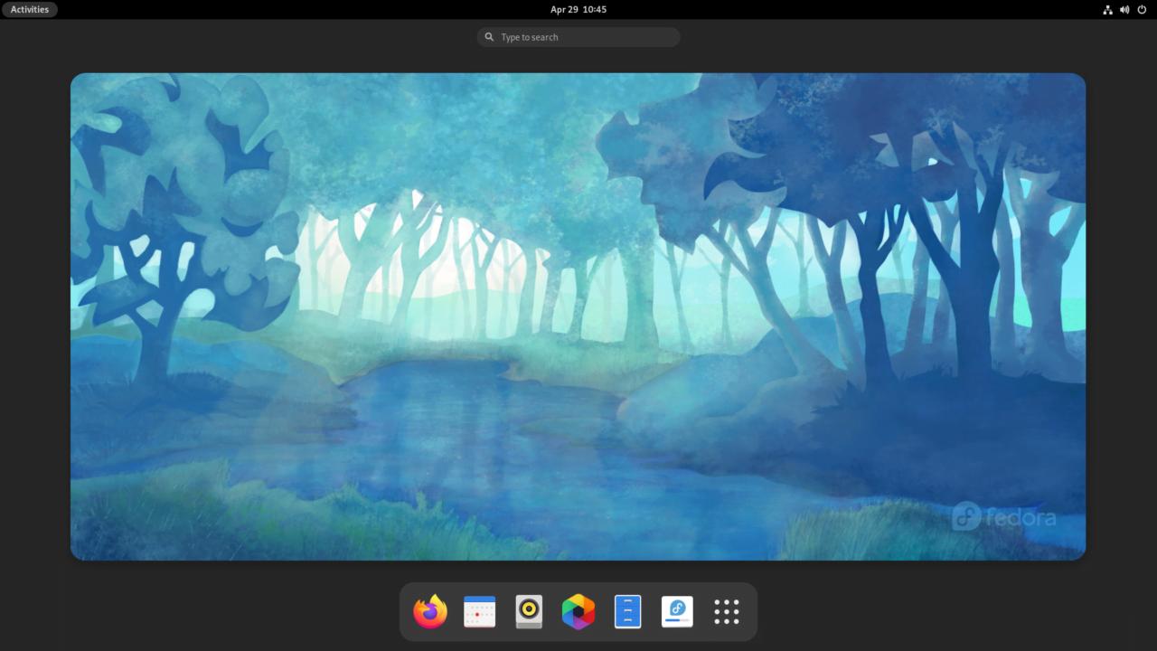 توزيعة فيدورا بواجهة GNOME
