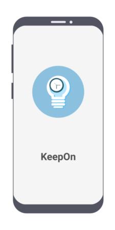 شاشة دخول تطبيق KeepOn